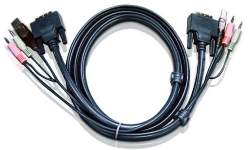 Aten 2L-7D02UI USB DVI-I Single Link KVM Cable 1.8m