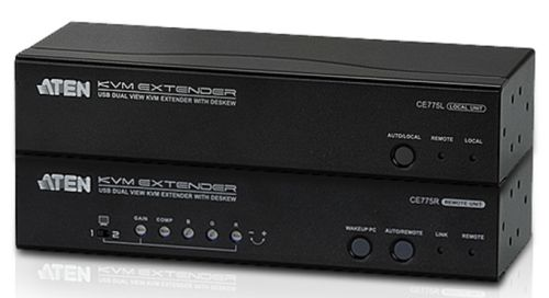 Aten CE775 USB Dual View KVM Extender with Deskew