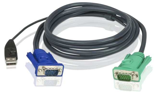 Aten 2L-5205U 5M USB KVM Cable with 3-in-1 SPHD