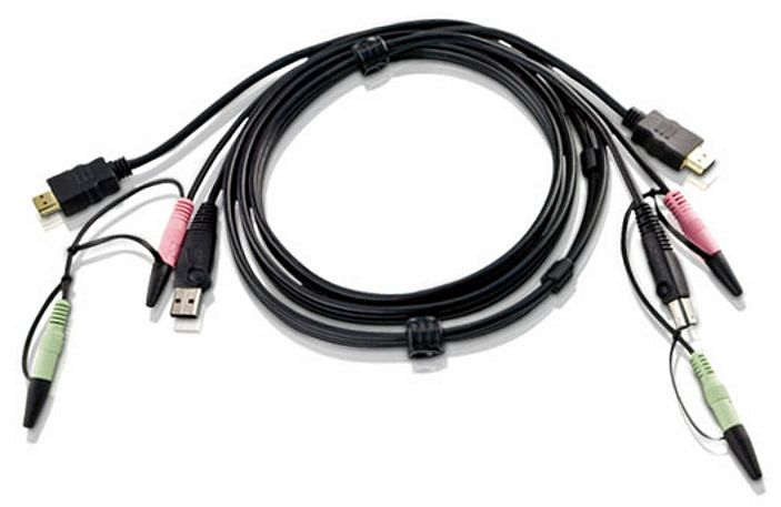 Aten 2L-7D02UH 1.8m USB HDMI KVM Cable with Audio