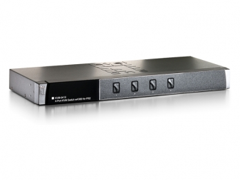 LevelOne 4-Port KVM Switch with OSD for PS2 - KVM-0410